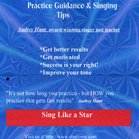 Audrey Hunt : Practice Guidance and Singing Tips : 00  1 CD :