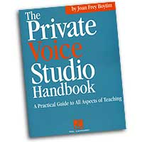 Joan Frey Boytim : The Private Voice Studio Handbook : 01 Book :  : 073999146554 : 0634047388 : 00740185