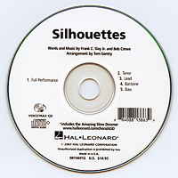 Close Harmony For Men : Silhouettes - Parts CD : TTBB : Parts CD :  : 884088138639 : 08746912