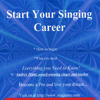 Audrey Hunt : Start Your Singing Career : 00  1 CD :