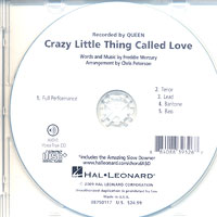 "Close Harmony For Men : <span style=""color:red;"">Crazy Little Thing Called Love</span> - Parts CD : Parts CD : 884088393267 : 08750117"