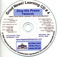 Good News Quartet : Gospel 4 Sing His Praise - CD Tenor : Parts CD :