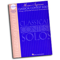 Various Composers : Mezzo-Soprano Classical Contest Solos : Solo : Songbook & CD : 073999854022 : 0793577993 : 00740074
