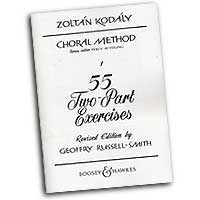 Zoltan Kodaly : 55 Two-Part Exercises : 2-Part : Vocal Warm Up Exercises : 073999864274 : 48009969