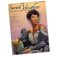 Sarah Vaughan : Original Keys For Singers : Solo : Songbook :  : 073999199420 : 0634067877 : 00306558