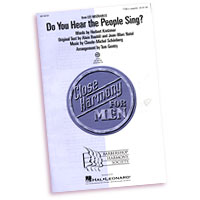 Close Harmony For Men : Do You Hear The People Sing? - 4 Charts and Parts CD : TTBB : Sheet Music & Parts CD : 884088240448 : 08748791