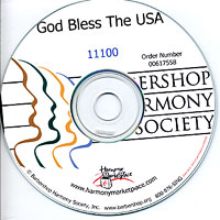Barbershop Harmony Society : God Bless The USA - Parts CD : Parts CD :  : 11100