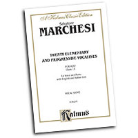 Mathilde Marchesi : Twenty Elementary and Progressive Vocalises, Op. 15 : Solo : Vocal Warm Up Exercises :  : 029156197112  : 00-K06295