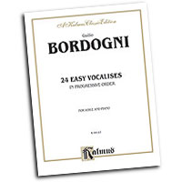 Marco Bordogni : Twenty-four Easy Vocalises in Progressive Order : 01 Book :  : 029156958065  : 00-K09147