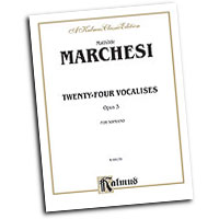 Mathilde Marchesi : Twenty-four Vocalises for Soprano, Op. 3 : Solo : Vocal Warm Up Exercises :  : 029156638004  : 00-K09170