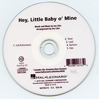 Close Harmony For Men : Hey, Little Baby O' Mine - Parts CD : TTBB : Parts CD :  : 884088407650 : 08750213