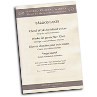 Lajos Bardos : Songs For Various Occaisions : SATB : 01 Songbook : 50490059