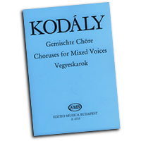 Zoltan Kodaly : Choral Works for Mixed Voices : SATB : 01 Songbook : Zoltan Kodaly : 50511057
