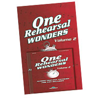 Various Arrangers : One Rehearsal Wonders, Volume 2 : SATB : 01 Songbook & 1 CD :  : 747510184256 : 35016270