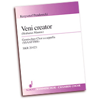 Kzysztof Penderecki : Veni Creator : SSAATTBB : 01 Songbook : 073999241761 : 49012115