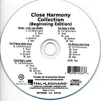 Close Harmony For Men : Close Harmony Collection - Parts CD : TTBB : Parts CD :  : 884088243678 : 08748908
