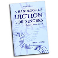 David Adams : A Handbook of Diction for Singers : Solo : Book :  : 0195325591