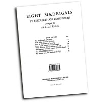 Various Composers : Eight Elizabethan Madrigals : SSA : 01 Songbook :  : 884088425500 : 0853606633 : 14009956