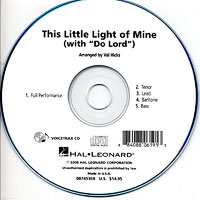 Close Harmony For Men : This Little Light of Mine / Do Lord - Parts CD : TTBB : Parts CD :  : 884088061913 : 08745368