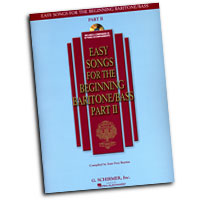 Joan Frey Boytim : Easy Songs for the Beginning Baritone / Bass Part II : Solo : Songbook & CD : 884088075071 : 1423412168 : 50486245