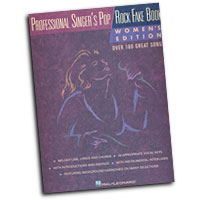 Various Composers : Professional Singers's Pop / Rock Fake Book : Solo : Songbook :  : 073999538182 : 0793559898 : 00240090
