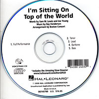 Close Harmony For Men : I'm Sitting On Top Of The World - Parts CD : TTBB : Parts CD :  : 884088240301 : 08748780