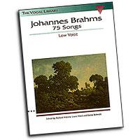 Johannes Brahms : 75 Songs : Solo : Songbook : Johannes Brahms : 073999459203 : 079354629X : 00740015