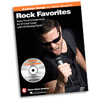 Rock Favorites : Audition Songs for Male Singers : Solo : Songbook & CD :  : 884088469375 : 1423489497 : 14036220