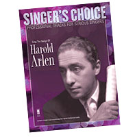 Professional Tracks for Serious Singers : Sing the Songs of Harold Arlen : Solo : Songbook & CD : Harold Arlen : 888680033552 : 1941566030 : 00138894